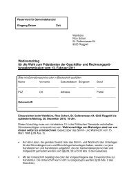 Wahlvorschlag Präsident GRPK 2011 - Gemeinde Roggwil