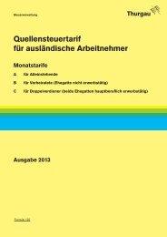 Quellensteuer Tarife 2013