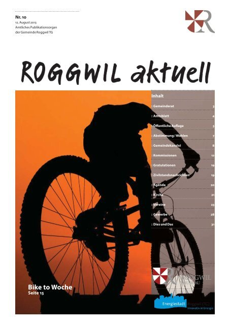 12. August 2013 - Gemeinde Roggwil