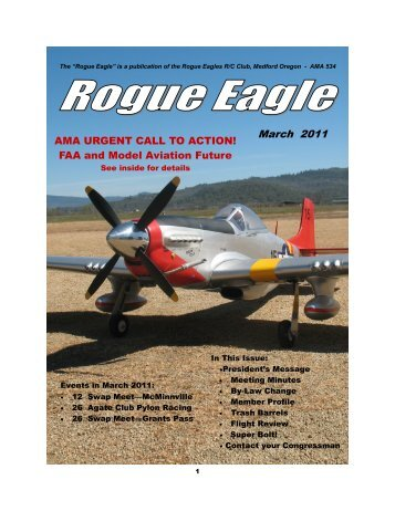 March 2011 - The Rogue Eagles R/C Airplane Club