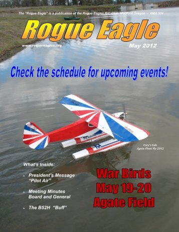 May 2012 - The Rogue Eagles R/C Airplane Club