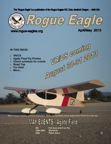 Current Newsletter April/May 2013 - The Rogue Eagles R/C ...