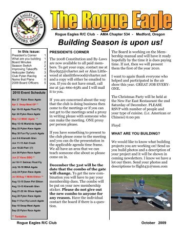 October - The Rogue Eagles R/C Airplane Club