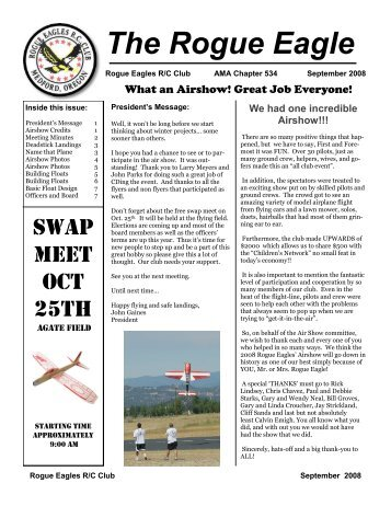 September - The Rogue Eagles R/C Airplane Club