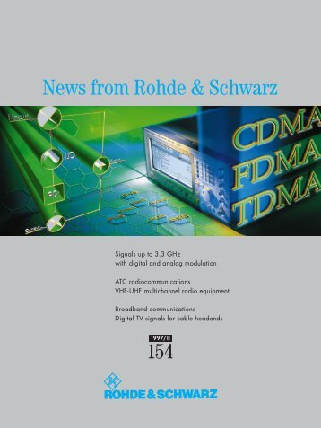 News 154 - Rohde & Schwarz