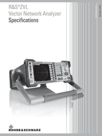 R&S®ZVL Vector Network Analyzer - Rohde & Schwarz