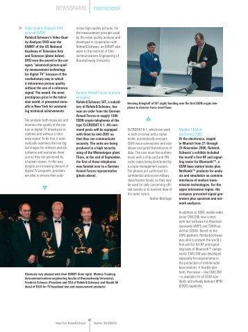 International NEWSGRAMS - Rohde & Schwarz