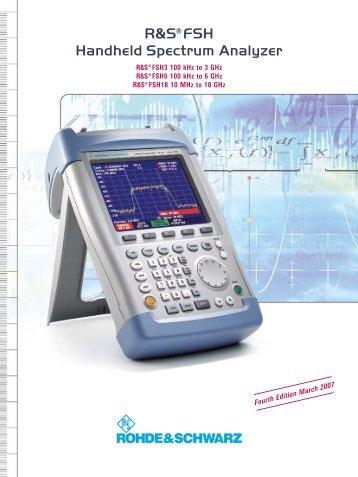 R&S FSH Handheld Spectrum Analyzer - Rohde & Schwarz