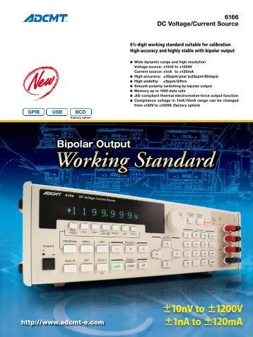 DC Voltage Current Source ADCMT 6166 - Rohde & Schwarz ...