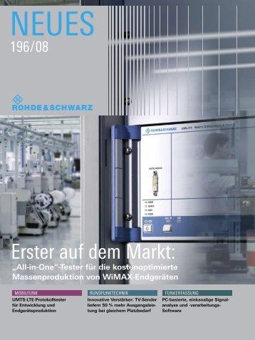 erster auf dem Markt: - Rohde & Schwarz