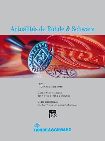 Actualités 153 - Rohde & Schwarz International