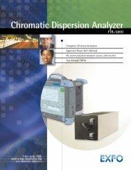 Chromatic Dispersion Analyzer FTB-5800 - Rohde & Schwarz