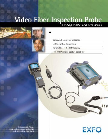 Video Fiber Inspection Probe FIP-S1/USB and ... - Rohde & Schwarz
