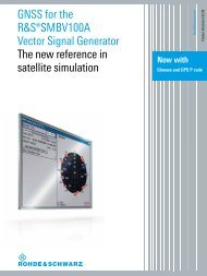 GNSS for the R&S®SMBV100A Vector Signal ... - Rohde & Schwarz