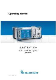 Operating Manual - Rohde & Schwarz