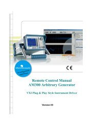 Remote Control Manual AM300 Arbitrary ... - Rohde & Schwarz