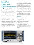 R&S®FSW Signal- und Spektrumanalysator - Rohde & Schwarz - Page 2