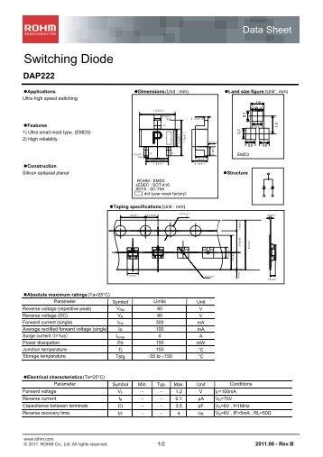 DAP222 : Diodes - Rohm
