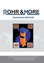 Produktkatalog Kanalschächte DN/OD 400 PF-K-001 ... - Rohr & More