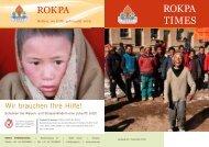 Wir brauchen Ihre Hilfe! - Rokpa