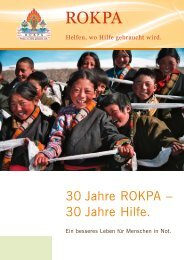 30 Jahre ROKPA – 30 Jahre Hilfe.