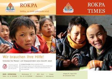 Zum Jahresbericht 2009 (PDF) - Rokpa