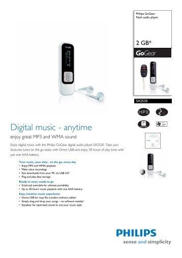 Philips SA4315/37 MP3 Player Driver
