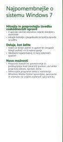 Brošura Windows 7 - DISS - Microsoft - Page 2