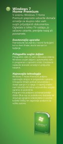 Brošura Windows 7 - DISS - Microsoft - Page 7