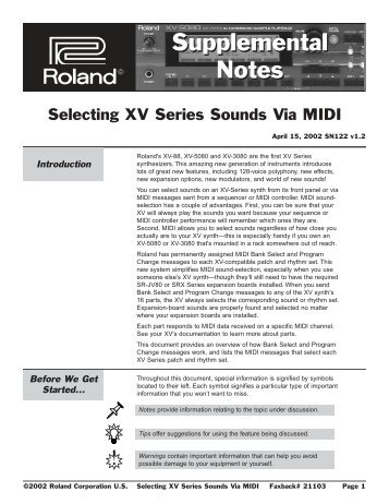 Selecting XV Series Sounds - NathanSheldon.com