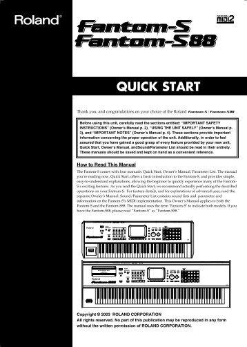 QUICK START - Roland