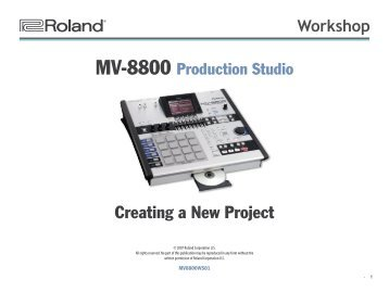 MV-8800 Workshop 01: Creating a New Project (PDF) - Roland UK
