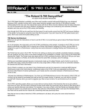 S-760 Demystified - Roland UK