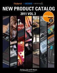 NEW PRODUCT CATALOG RODUCT CATALOG - Roland UK