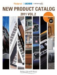 NEW PRODUCT CATALOG - Roland UK