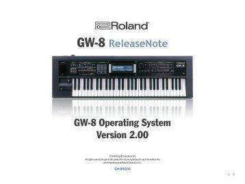 GW-8 Version 2 ReleaseNote - Roland UK