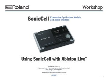 SCWS07—Using SonicCell with Ableton Live™ - Roland UK