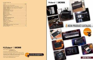 NEW PRODUCT CATALOG - Roland UK