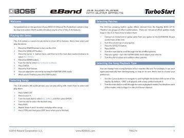 BOSS eBand JS-8 Audio Player with Guitar Effects TurboStart - Roland