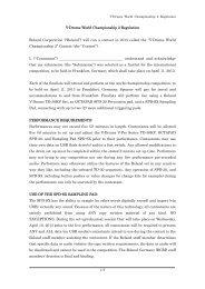 V-Drums World Championship 2 Regulation - Roland Corporation