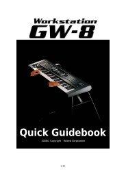 GW-8 Quick Guidebook - Roland Corporation