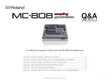 Roland MC-808 Q&A - Roland UK