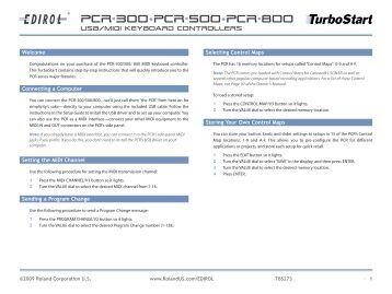 Edirol Pcr 30 manual