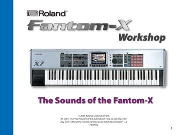 FXWS02—The Sounds of the Fantom-X - Roland UK