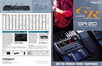 GR-20 Brochure (PDF) - Roland