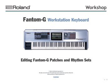 FGWS06—Editing Fantom-G Patches and Rhythm Sets - Roland UK