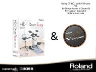Using DT-HD1 with V-Drums (PDF) - Roland Australia