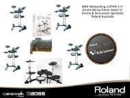 MIDI Networking a DTHD-1 V- Drums lab by ... - Roland Australia