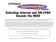 Selecting Internal and SR-JV80 Sounds Via MIDI - Roland UK
