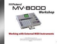 MVWS11—Working with External MIDI Instruments - Roland UK